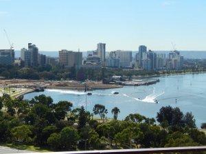 Látkép Perth belvárosára