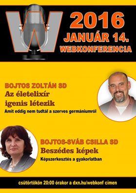 Szerves germánium webkonferencia